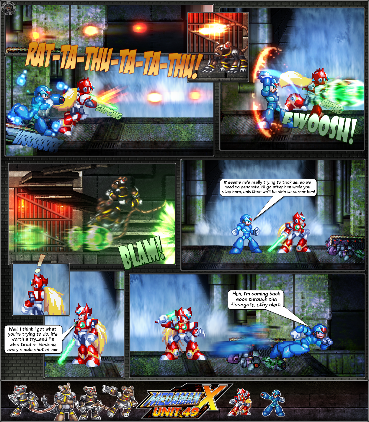 MMX:U49 - S1Ch11: Cat and Mice (Page 8) by IrregularSaturn