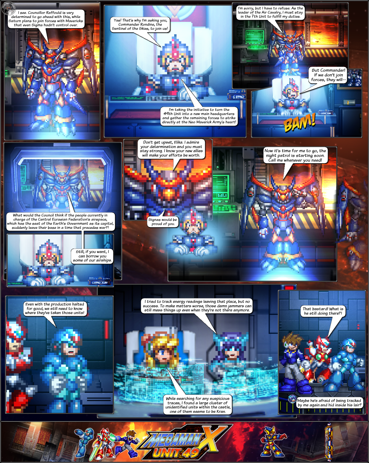 MMX:U49 - S1Ch14: Royal Blockades (Page 1) by IrregularSaturn