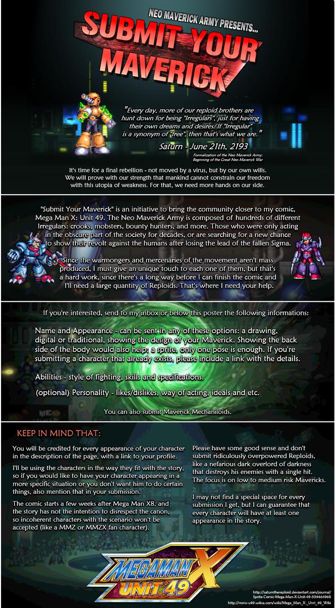MMX:U49 - Submit Your Maverick! (Update: 07 May) by IrregularSaturn