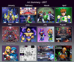 Art Summary - 2017 by IrregularSaturn