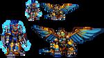 Voltage Jackal and Stormbringer Sphinx (SYM) by IrregularSaturn