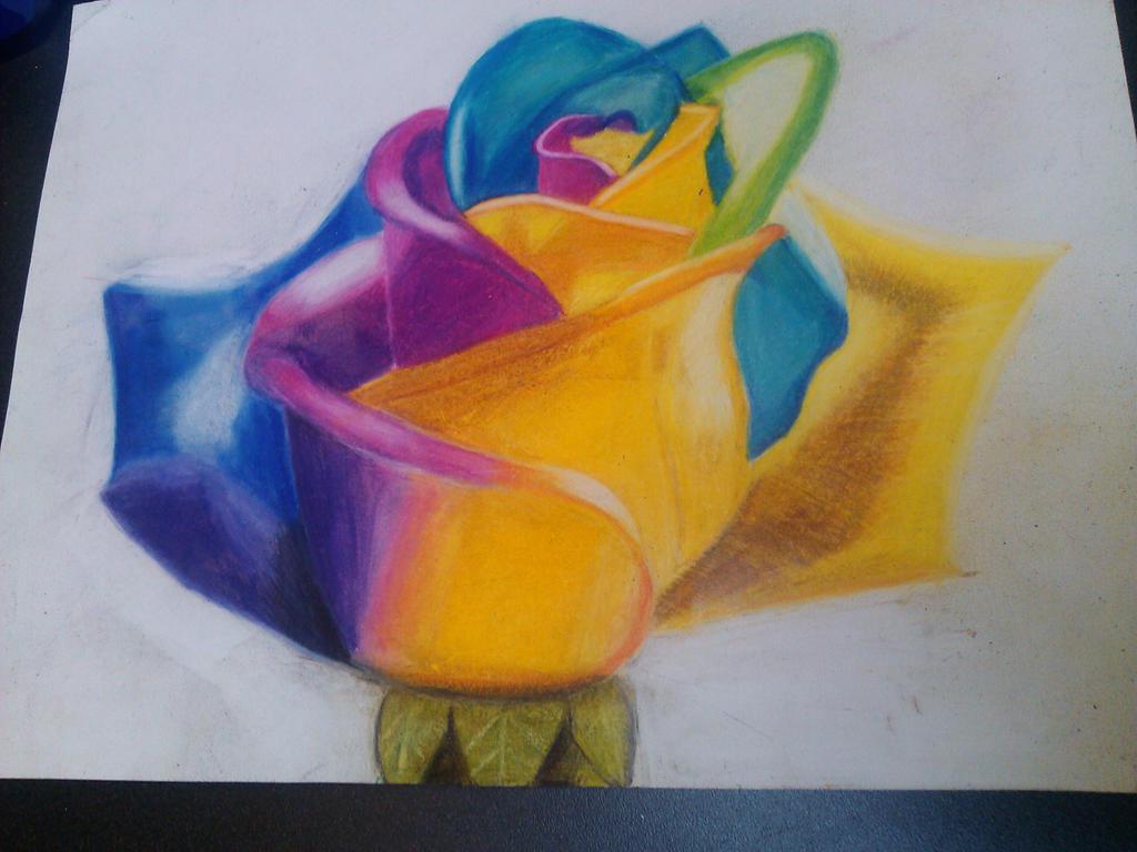 Rainbow Flower by DBZFAN164101