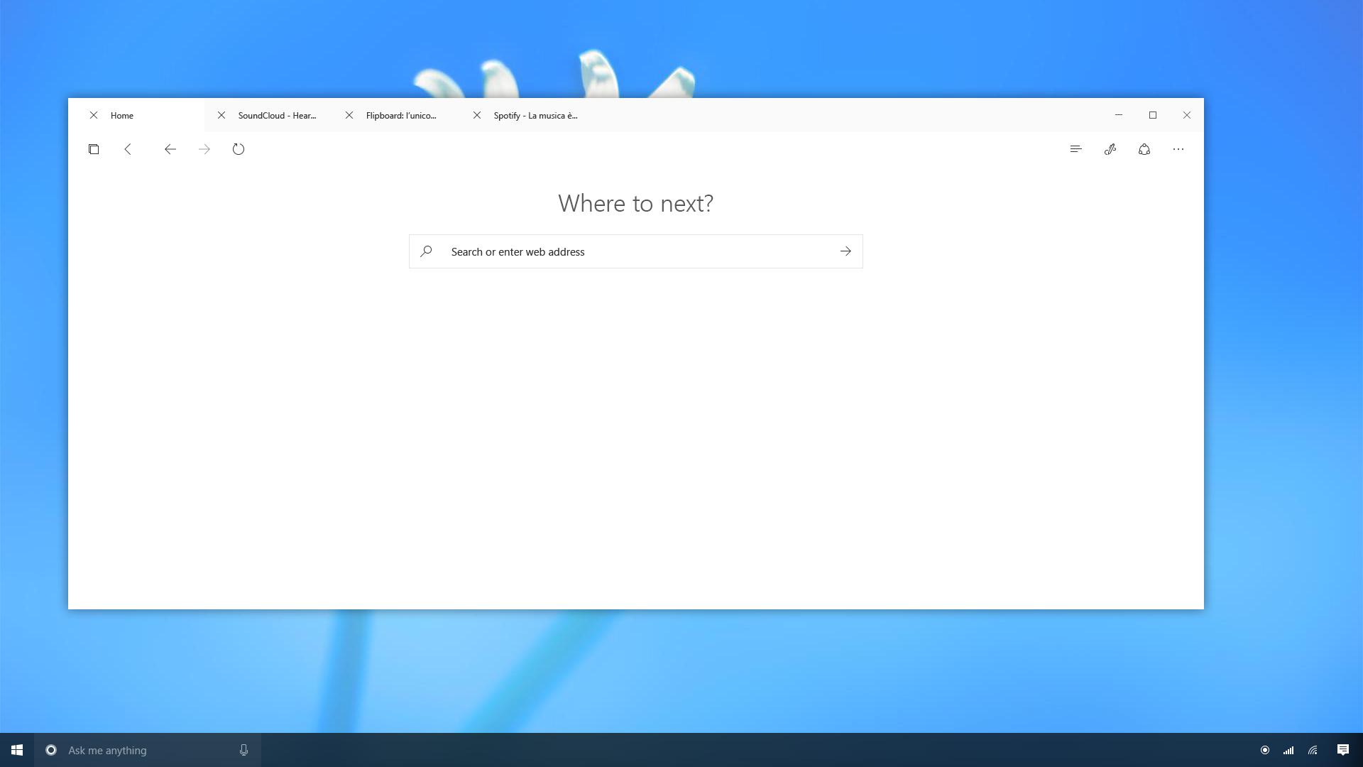 Microsoft Edge - Windows 10 Project Neon Concept