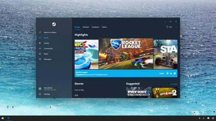 Steam - Windows 10 Fluent Design System Concept