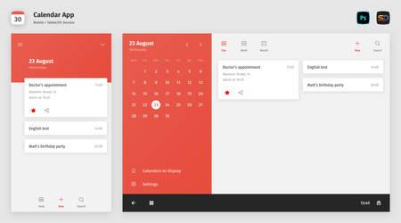 Random UI Concept #1 - Calendar App