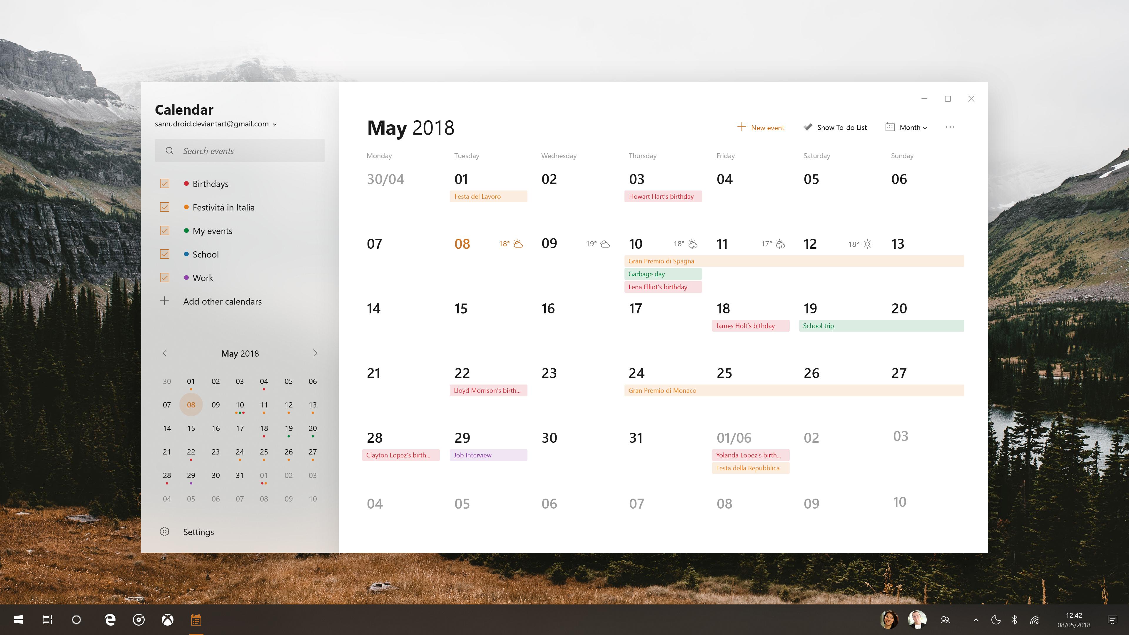 Microsoft Fluent Design System Calendar V2 By Samudroid On Deviantart