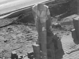 Piling the Driveway Bricks by KalikaMarie