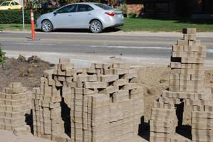 Driveway Brick Monuments by KalikaMarie