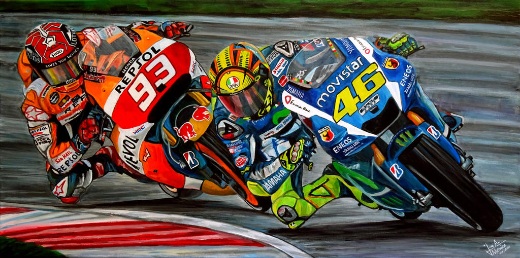 Rossi vs Marquez by JosefVonDoom on DeviantArt