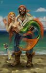 A mermaid!