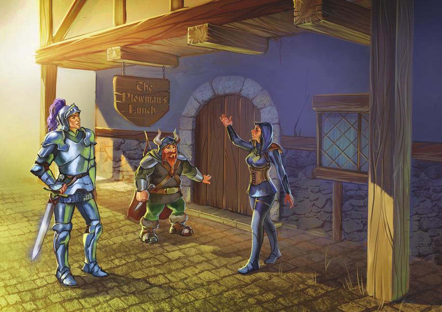 Tavern entrance by Sophia-M