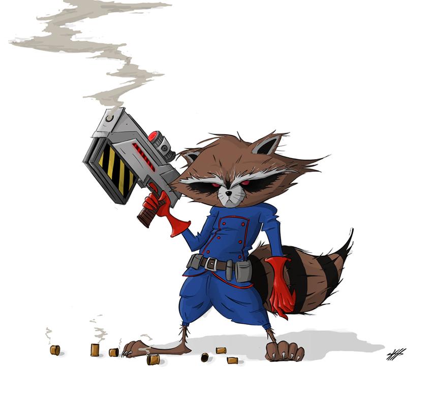Rocket Raccoon by Sechael