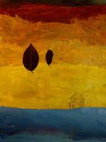 leaves-sea house by MeralSarioglu