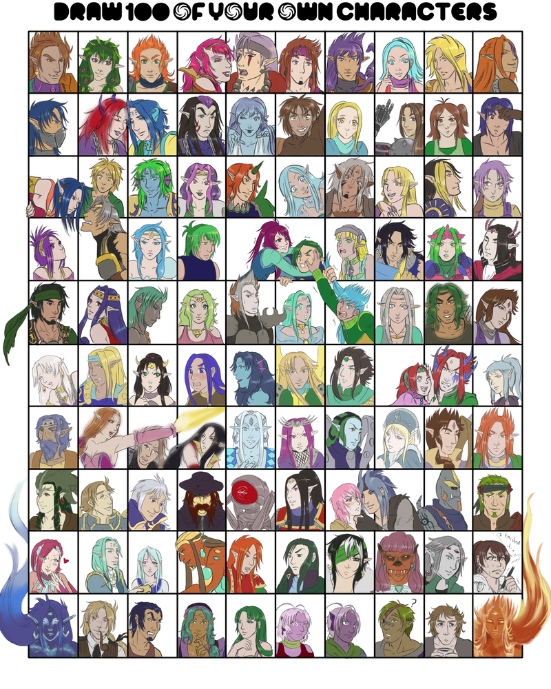 I DID IIIIIIT - 100 Original Characters meme by Atey