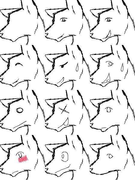Sketchy Wolf Tags by Kayori-Ayane