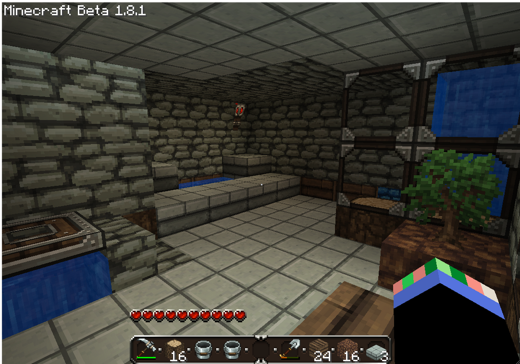 Minecraft bathroom 01 by yukki24 on deviantart for Bathroom ideas minecraft