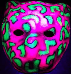 cat mask uv pink by spypants