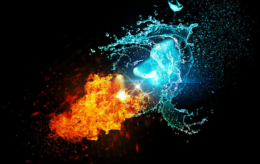 Water vs Fire by Fkbest on DeviantArt