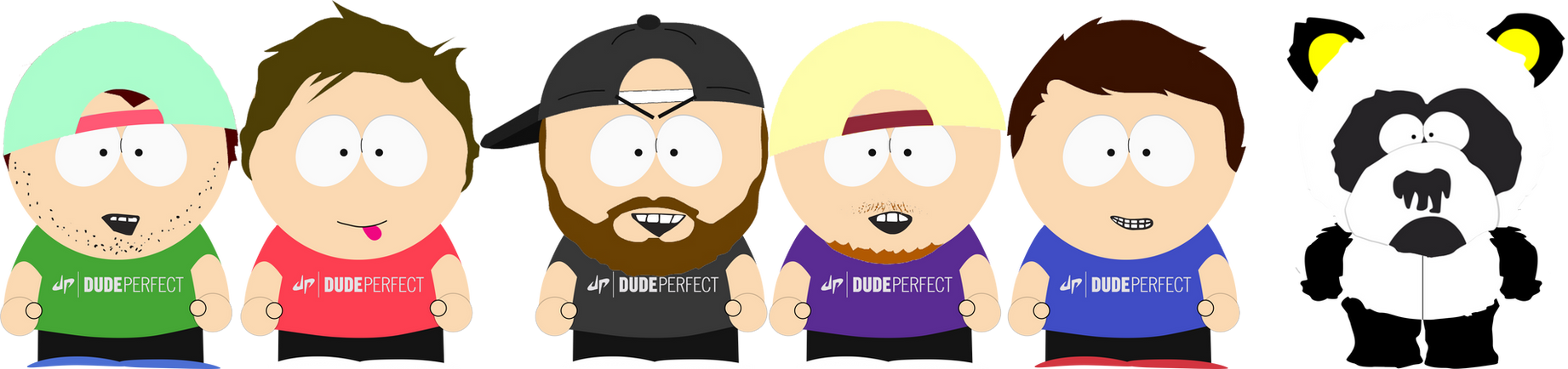 Dude perfect in south park by martin from sp on deviantart for Dude perfect coloring pages