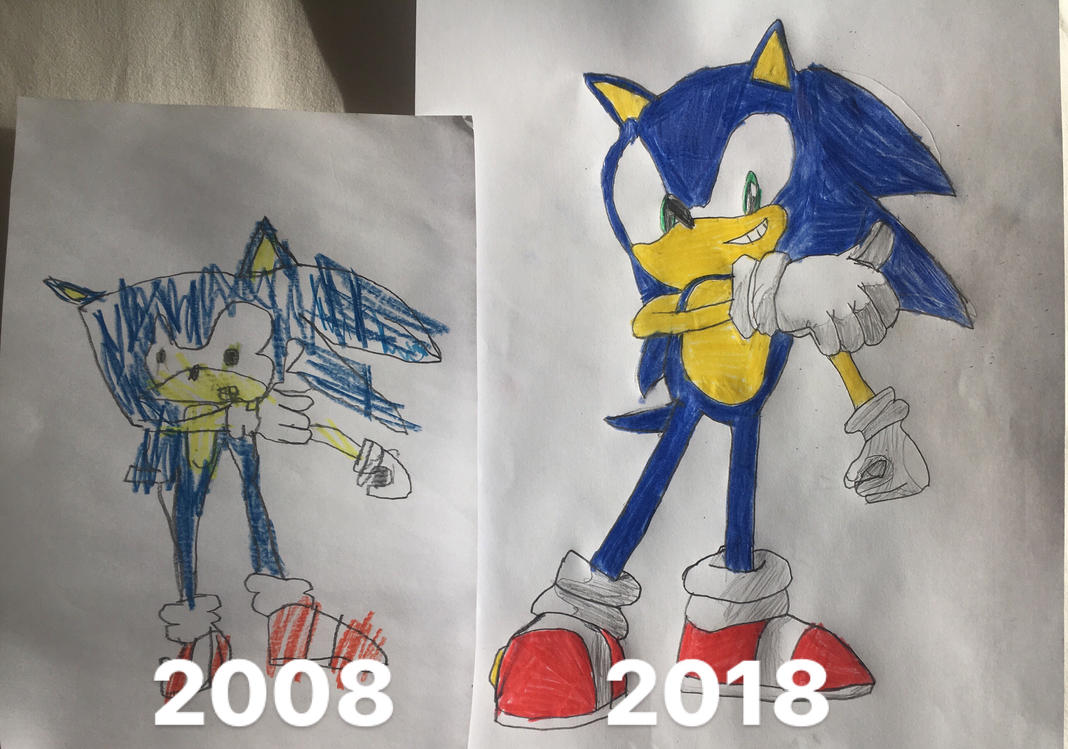 Draw it again: Sonic the Hedgehog by Martin-from-SP