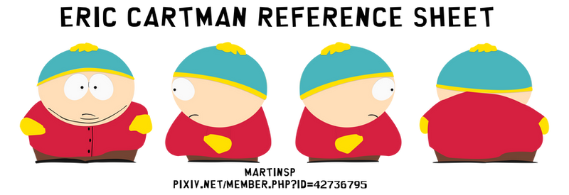 Eric Cartman reference sheet