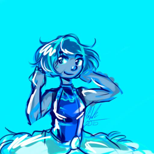 Blue Korra by geckofeet
