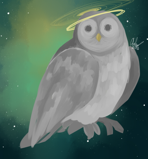 Owl in the sky by geckofeet
