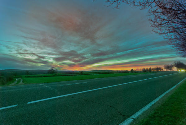 Sunset  road by bulgphoto
