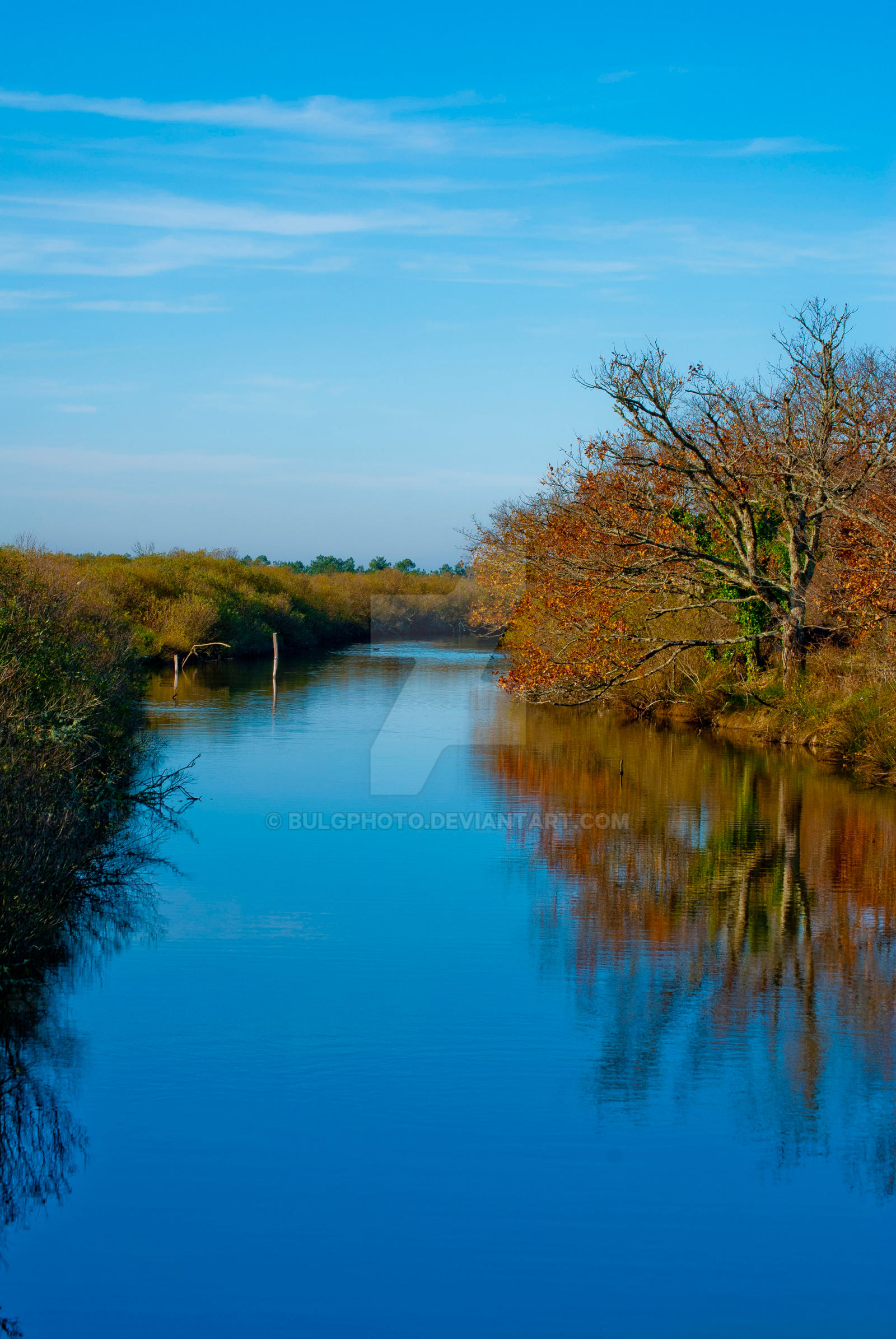 Orange Waterway by bulgphoto