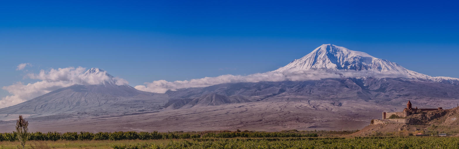 Khor Virap Panorama-Mount Ararat by bulgphoto