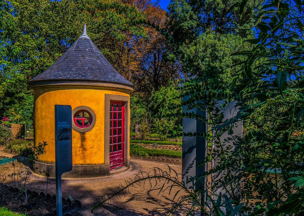 Botanical Garden Yellow House by bulgphoto
