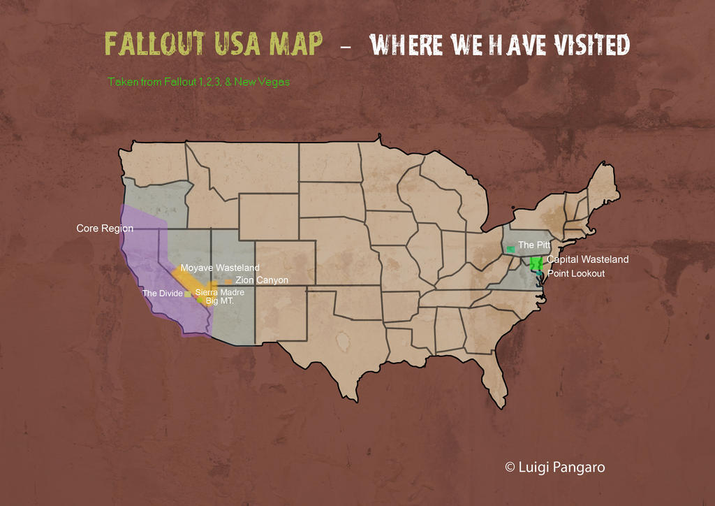 Fallout World Fallout Wiki Fandom Powered By Wikia Fallout Map Of Fallout Nv Map To