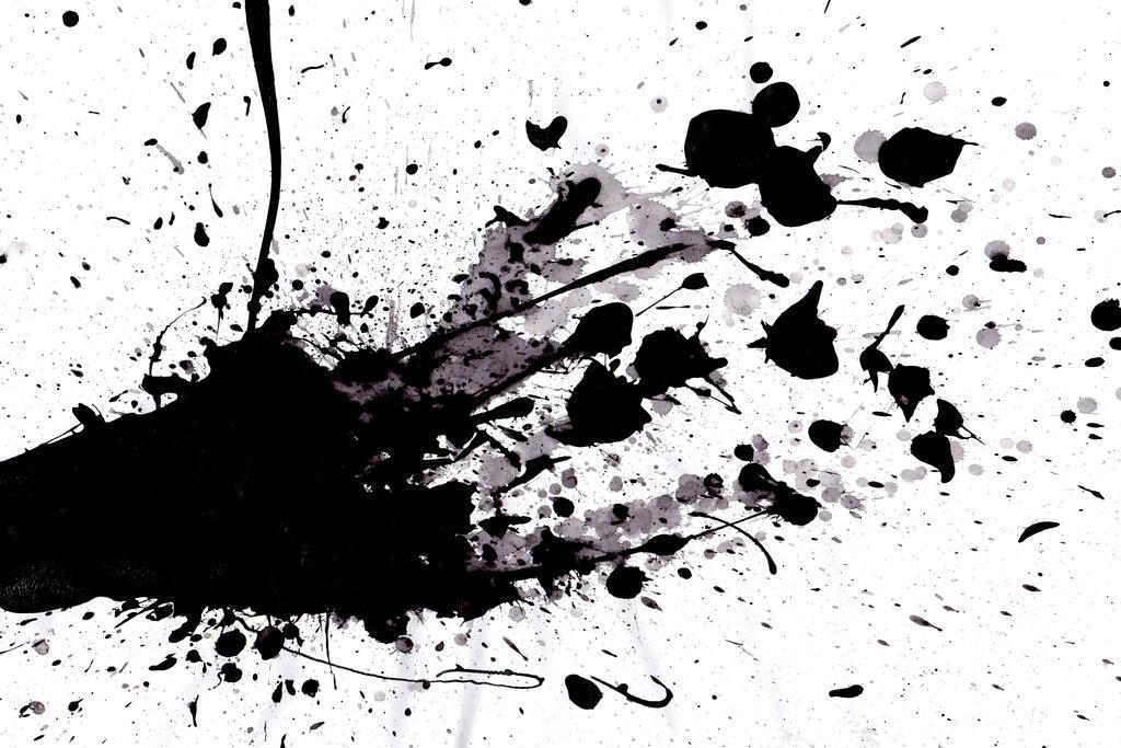 Black paint splatter wallpaper