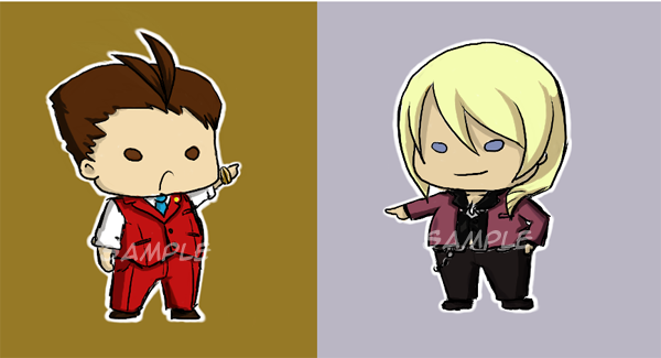 Apollo and Klavier buttons by TriaElf9