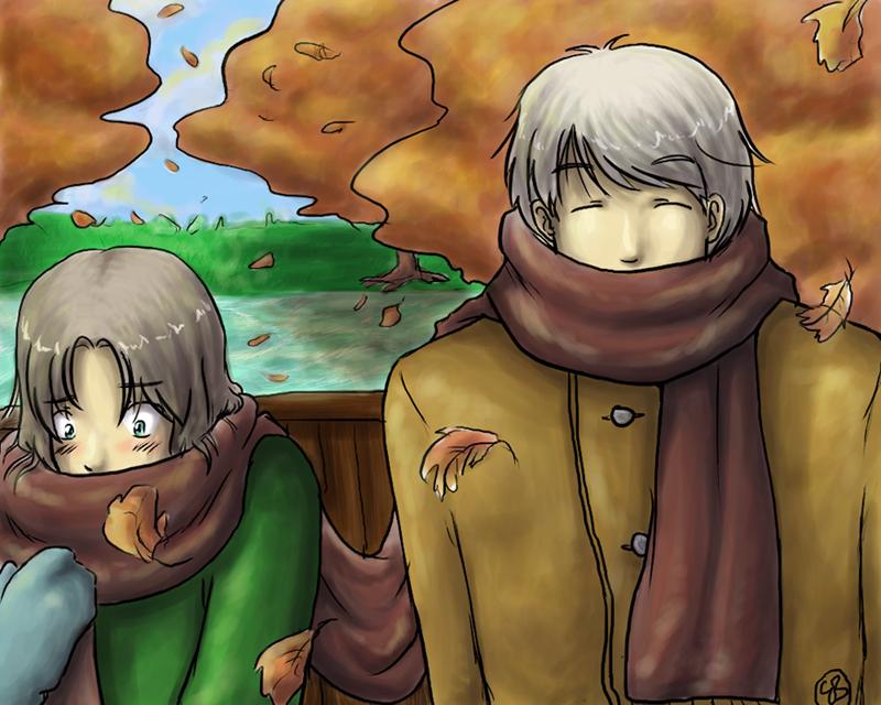 Fall warmth - Hetalia by TriaElf9