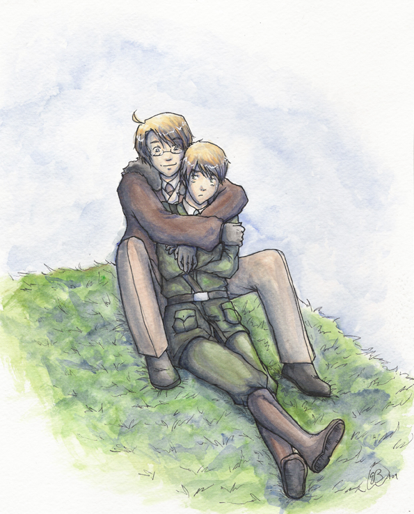 Hug on the Hillside - APH by TriaElf9