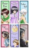 Peter Pan bookmarks by TriaElf9