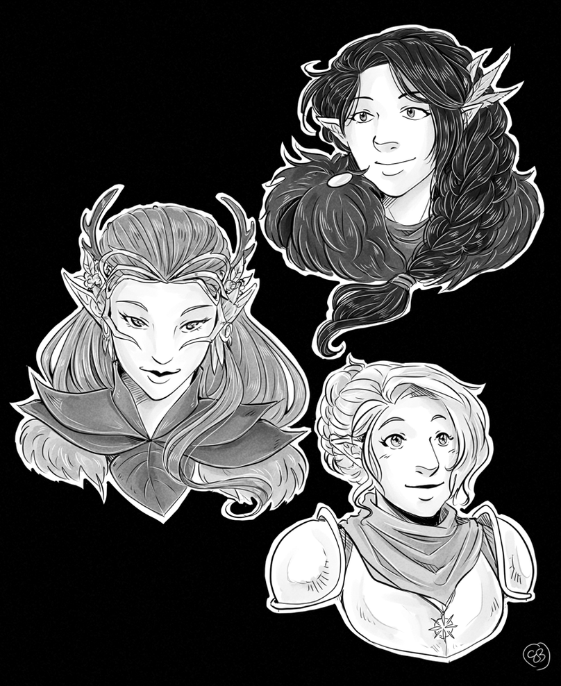 Critical Role Ladies by TriaElf9