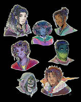 Critical Role Season 2 Portraits by TriaElf9