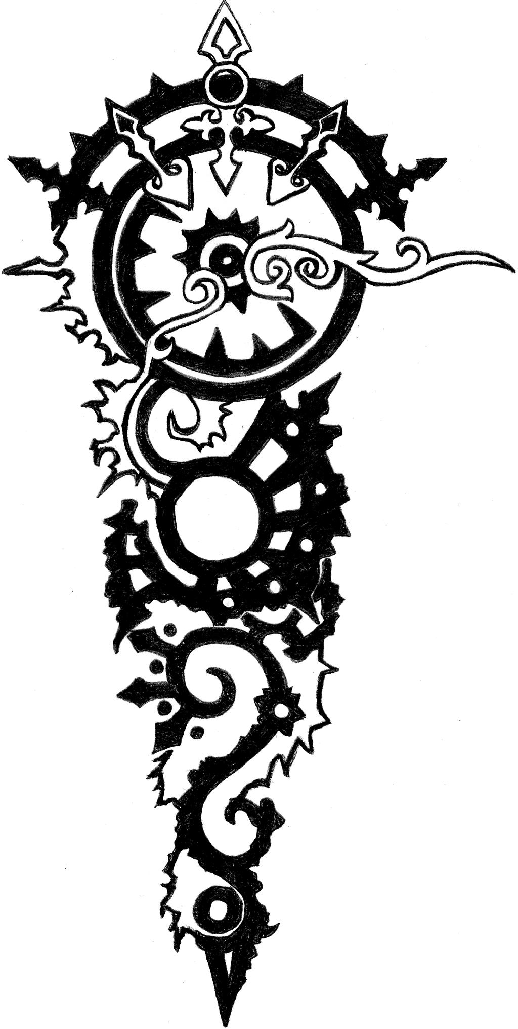 Forearm tattoo by ikrosis on deviantart for Forearm tattoo sketches