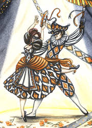 Harlequinade Detail by redheaded-step-child