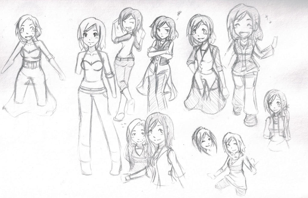 Shay Template Redesign Sketches by SoarinSoraya