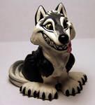 Winking Wolf in gray by Meadowknight