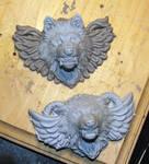 Sky Scraper revised winged wolf head pendant