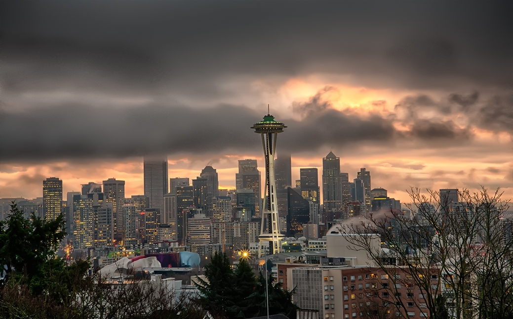 Seattle Sunrise by o0oLUXo0o