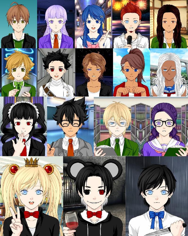 Dangan ronpa 1 characters by fullmoonrose7 on deviantart