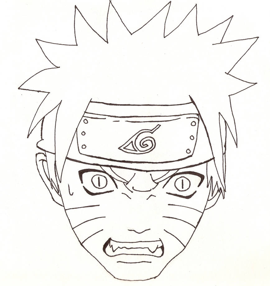 Naruto Head Outline by cheshire5 on DeviantArt