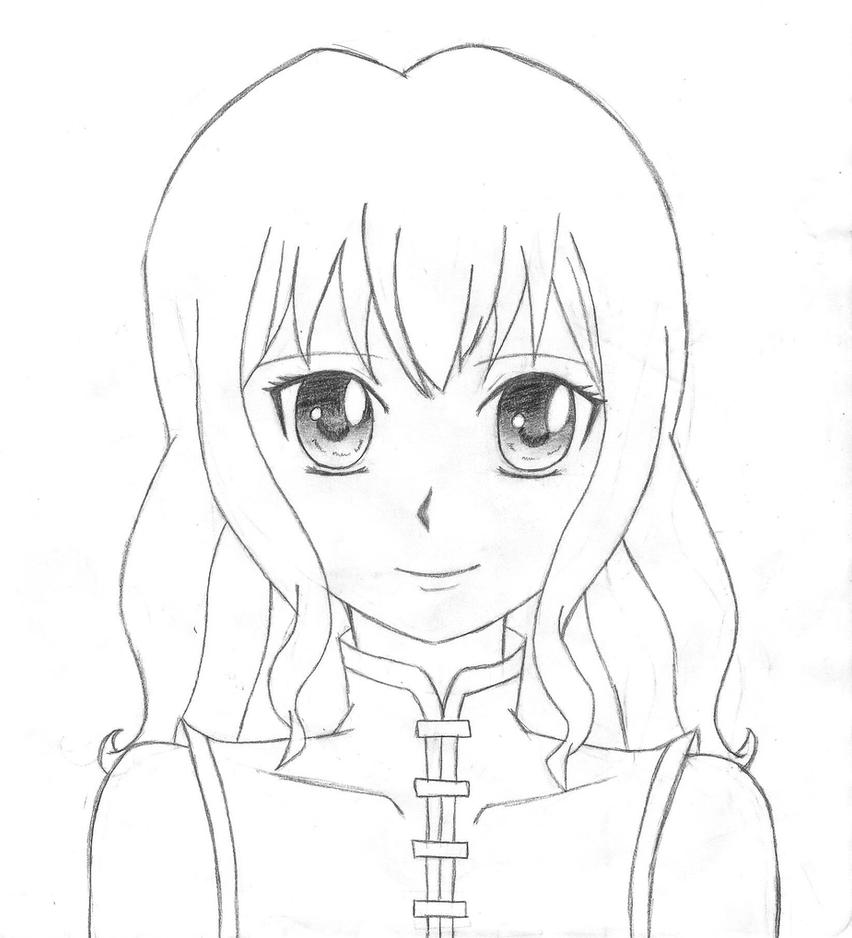 Female Anime Body Outline Coloring Pages
