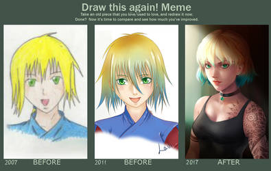 Draw This Again! Meme: 2007-2017 by Lavi by Lavi-Li