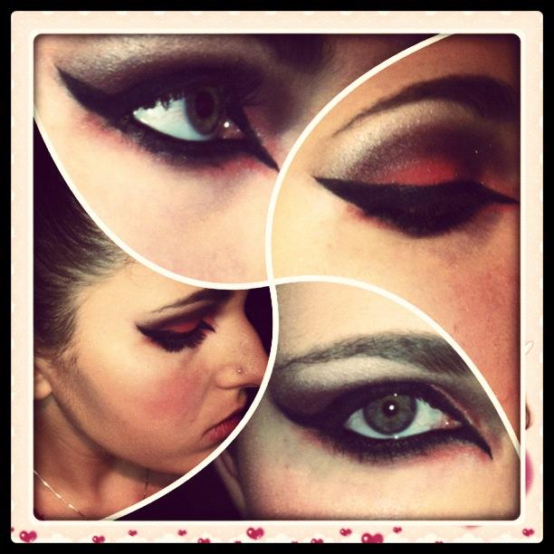 Makeup  - The Hunger Games - Girl On Fire by xxxKats-chancexxx